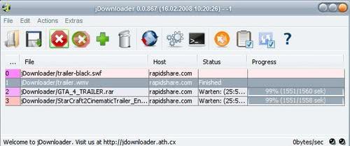 Rapidshare Download Manager JDownloader - gHacks Tech News