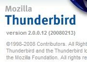 thunderbird 2.0.0.12