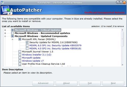 autopatcher updater