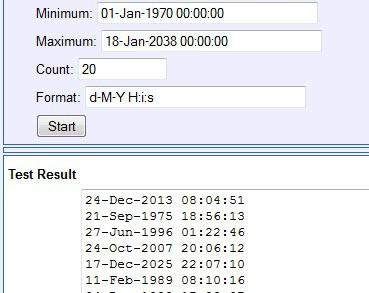 generate random dates