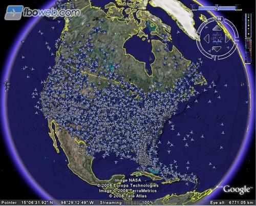 real time air traffic