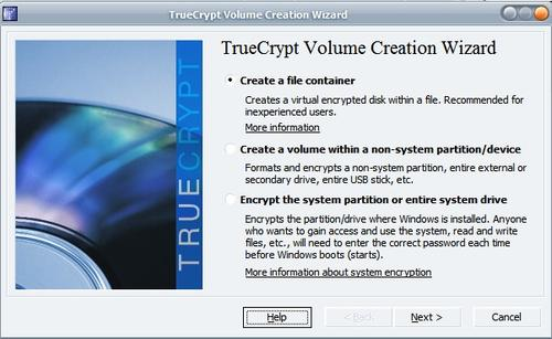 true crypt create volume