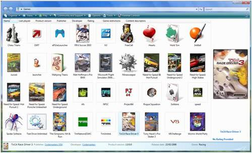 vista games explorer