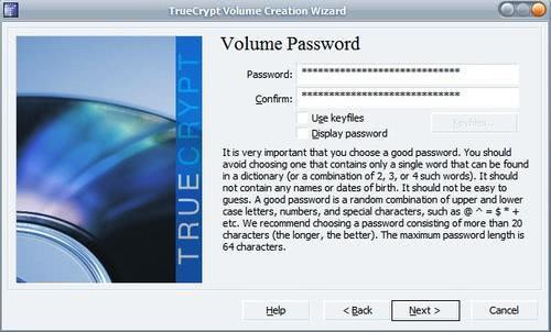 volume password