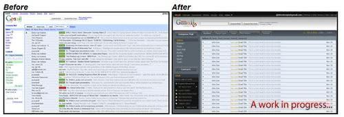 gmail dark user interface