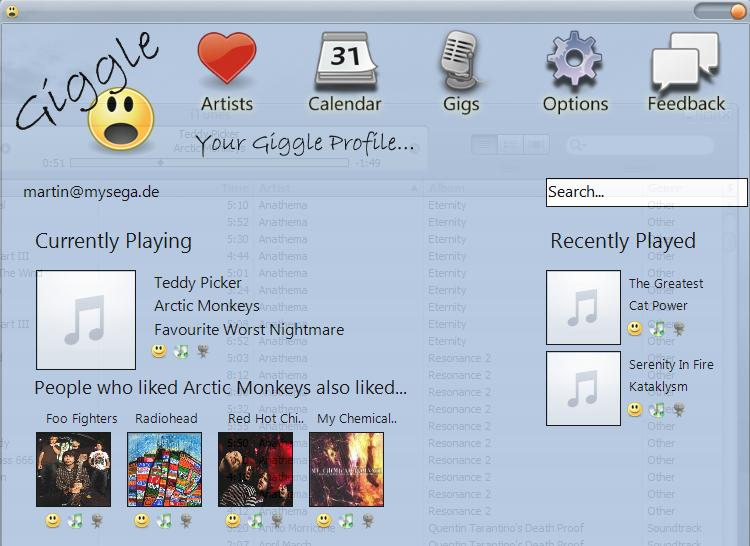 giggle music recommendations