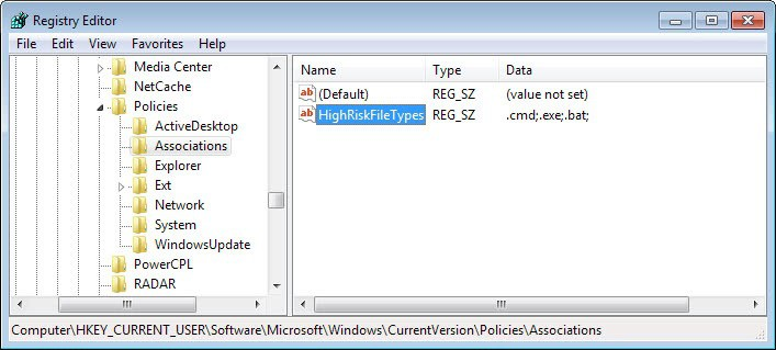 high risk files registry
