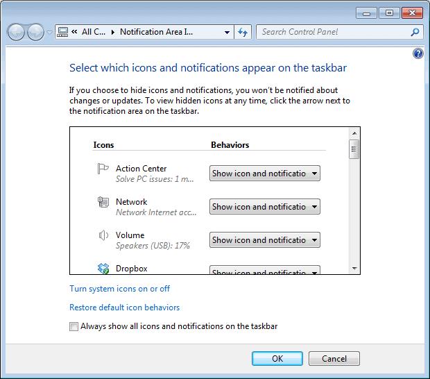 past icons windows notification icons screenshot