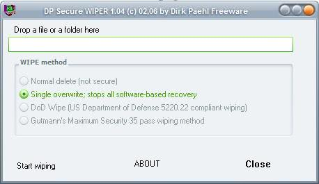 dp secure wiper
