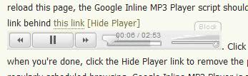 google mp3 inline player