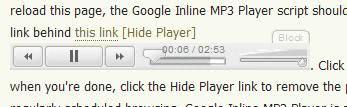google mp3 inline player