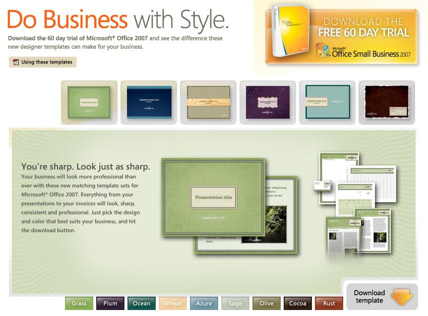 microsoft office small business templates