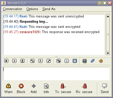 pidgin encrypted