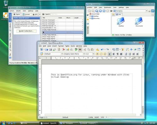 Windows Vista running the Ulteo Virtual Desktop