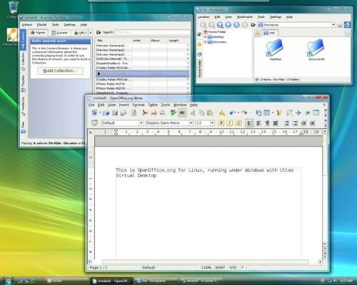 Windows Vista running the Ulteo Virtual Desktop