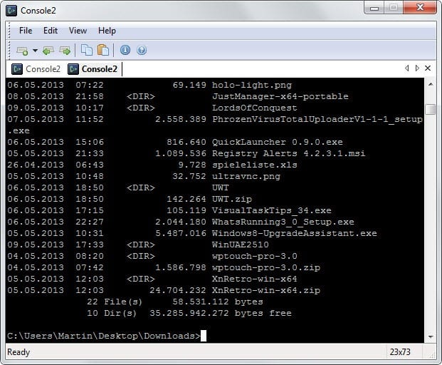 console windows command prompt replacement