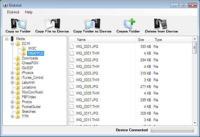 Transfer Files between iPhone, iPod and Computer - gHacks Tech News