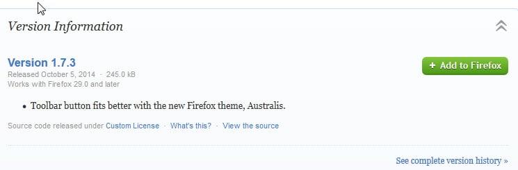 firefox new addon versions