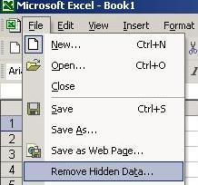remove hidden data