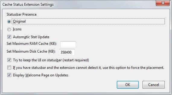 cache status options