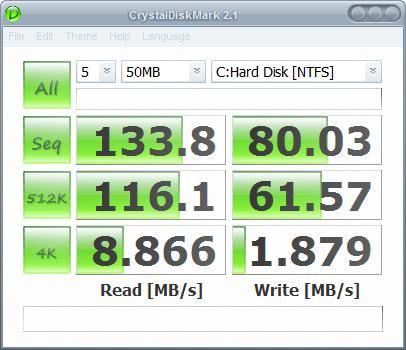 ocz core series ssd benchmark