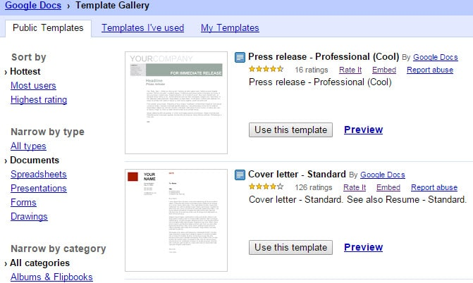 Google docs templates ghacks tech news for Google drive newspaper template