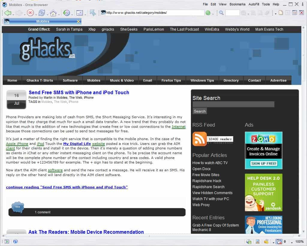 Orca Browser - gHacks Tech News