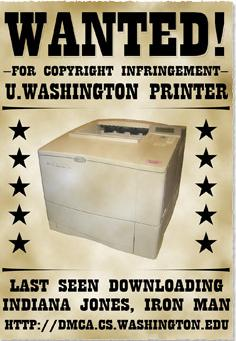 printer takedown notice