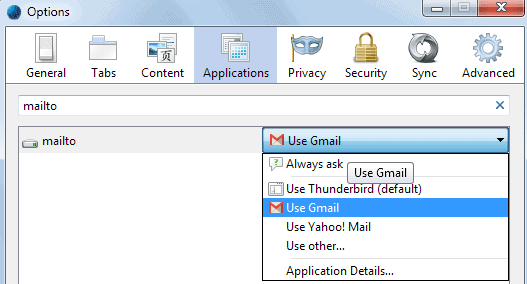 use gmail firefox mail