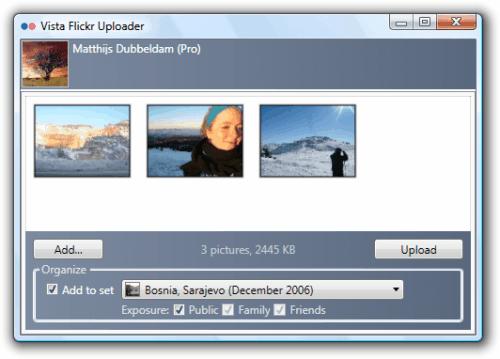 vista flickr uploader
