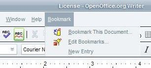 bookmarks menu