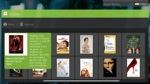 boxee video browsing