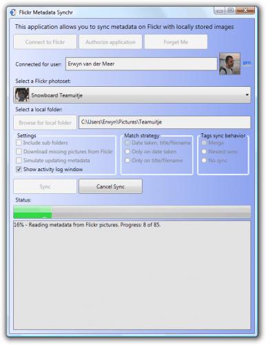 flickr metadata synchr