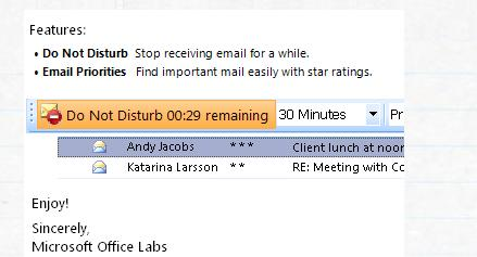 microsoft office labs email prioritizer