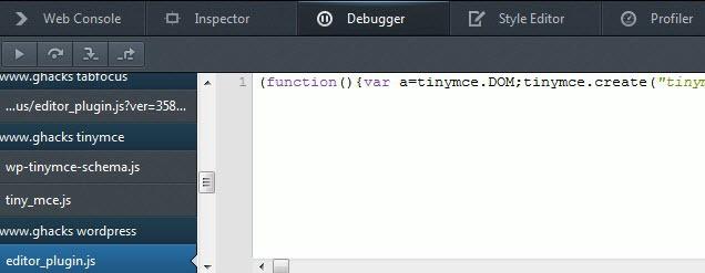 web developer javascript screenshot