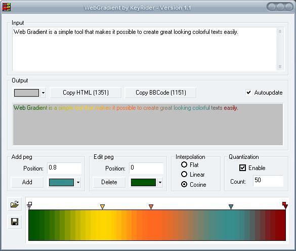 web gradient