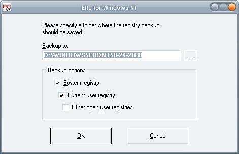 backup registry