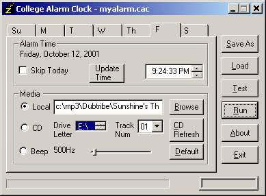 alarm clock program