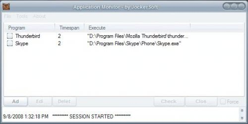 application monitor