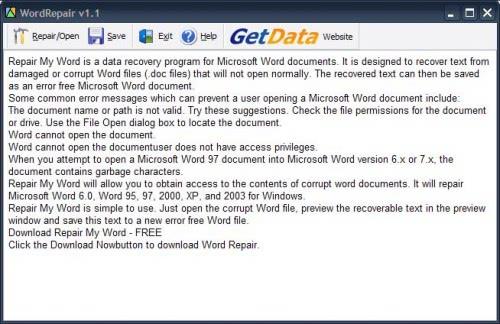 corrupt word file
