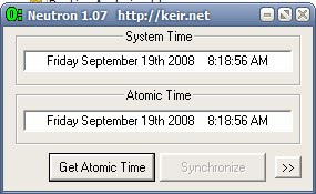 desktop atomic clock software