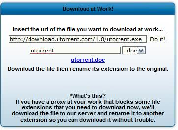 download at work