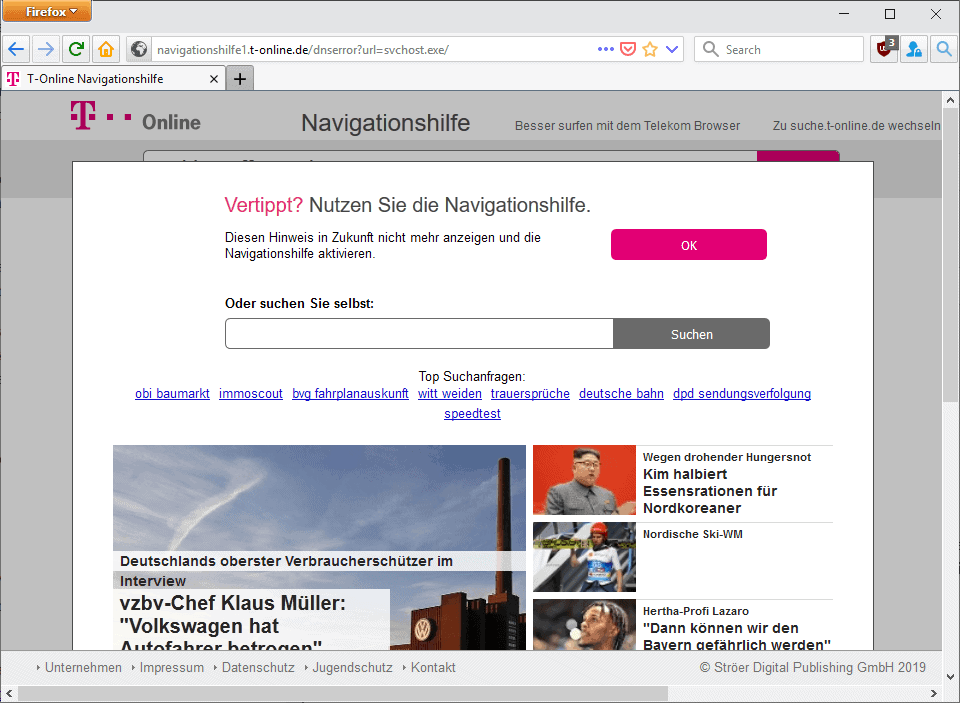 firefox search with period