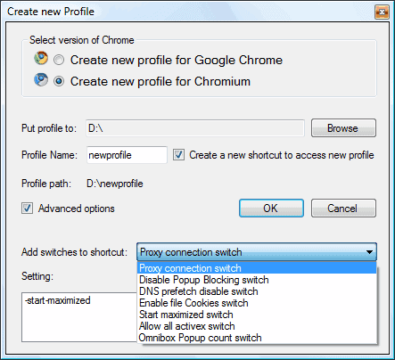 google chrome profiles