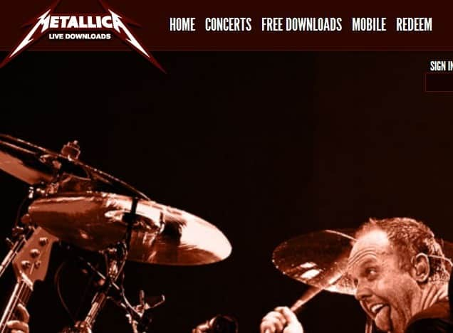 download 20 metallica live albums for free ghacks tech news. Black Bedroom Furniture Sets. Home Design Ideas
