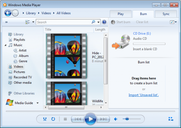 download windows media player 11 for windows xp