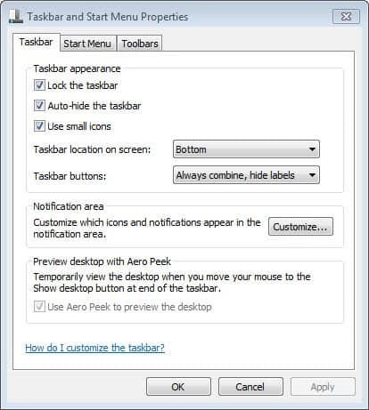 auto-hide windows taskbar