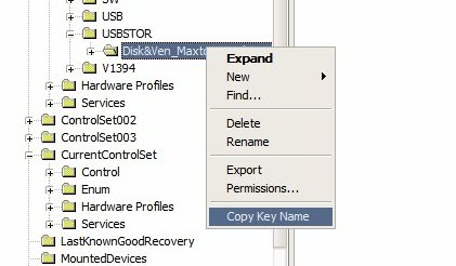 copy usb name