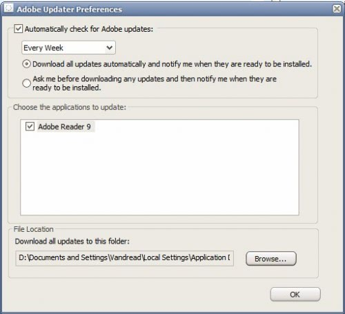 Disable Adobe Acrobat Updater