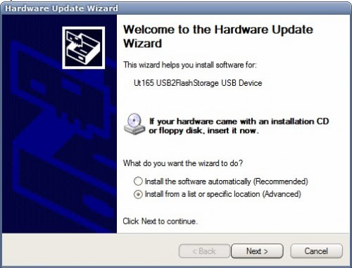 hardware update wizard